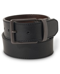 Levi's Reversible Stitched Leather Belt Black Brown