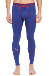 Saxx Men's 'Kinetic' Stretch Training Tights Blue Red