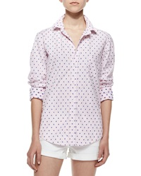 Frank And Eileen Limited Edition Barry Long Sleeve Ladybug Blouse Light Pink