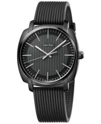 Calvin Klein Mens's Swiss Highliner Black Rubber Strap Watch 40Mm K5m314d1
