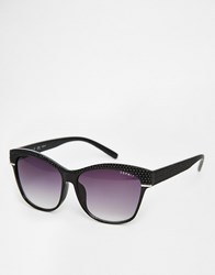 Esprit Retro Sunglasses With Gradient Lens Black