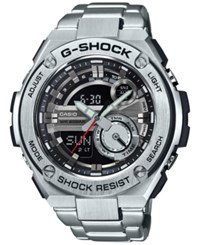 G Shock Men's Analog Digital Silver Tone Resin Bracelet Watch 59X52mm Gst210d 1A