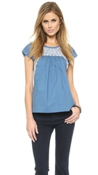 Ulla Johnson Calla Blouse Cornflower