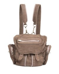 Alexander Wang Mini Marti Washed Leather Backpack Gray