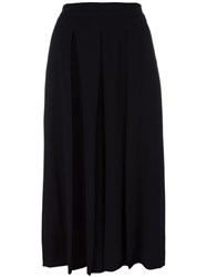 Pt01 Pleated Cropped Trousers Black