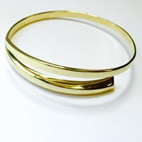 Marshelly's Jewelry Arc Bangles18k Gold Plated Large Polish