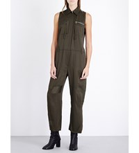 Maison Martin Margiela Patchwork Satin Jumpsuit Military