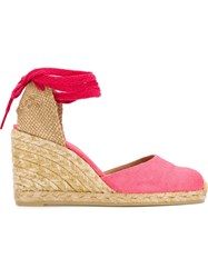 Castaner Castaner Wedge Espadrilles Pink And Purple