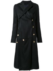 Proenza Schouler Asymmetric Coat Black