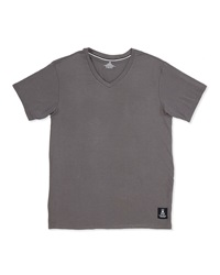 Psycho Bunny Luxe V Neck Tagless Jersey Tee Gray