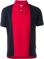 Moncler Gamme Bleu Two Tone Polo Shirt Red