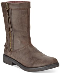 Rocket Dog Tipton Quilted Mid Shaft Boots Women's Shoes Brown Galaxy