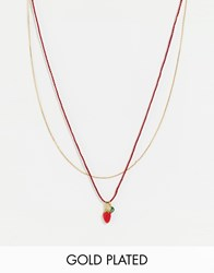 Les Nereides Strawberry Necklace Red
