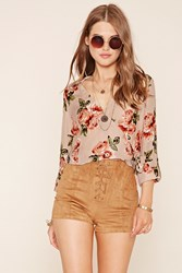 Forever 21 Floral Wrap Top