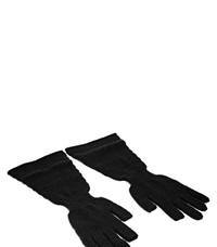 Rick Owens Knitted Long Gloves Black