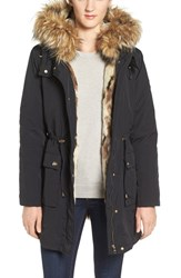 Steve Madden Women's 'Taslon' Parka With Faux Fur Trim Hood