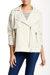 Michael Stars Moto Trench Jacket White