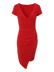 Jane Norman Asymmetric Twist Dress Red
