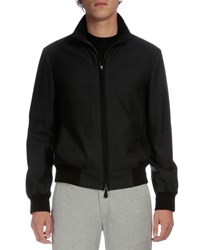 Berluti Full Zip Bomber Jacket Charcoal Grey