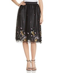 Kas Sequin Embroidered Lace Skirt Compare At 235 Black