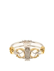 Eddie Borgo Sibyl Rock Crystal And Gold Plated Cuff Silver Gold