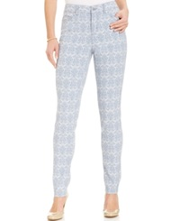 Charter Club Printed Modern Ankle Skinny Jeans