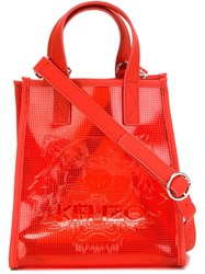 Kenzo 'Tiger' Tote Red