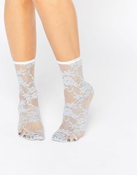 Asos Lace Ankle Socks Blue