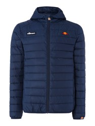 Ellesse Zip Up Padded Hooded Jacket Blue