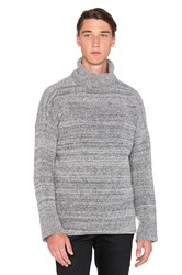 John Elliott Co Boucle Turtleneck Gray