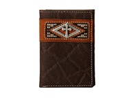 Ariat Diamond Cross Concho Tri Fold Wallet Brown Wallet Handbags