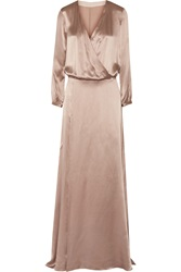 Mason By Michelle Mason Wrap Effect Silk Gown