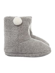 Therapy Polar Bear Slipper Bootie Grey