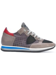 Philippe Model Panelled Sneakers Grey