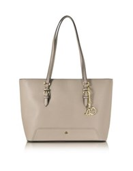 Roccobarocco Rb Large Saffiano Eco Leather Top Zip Tote Nude