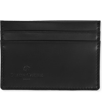Simon Carter Cinnamon Stitched Leather Card Holder Black