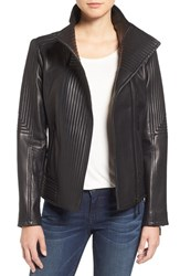 Vince Camuto Women's Trapunto Leather Jacket