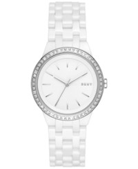 Dkny Women's Park Slope White Ceramic Bracelet Watch 36Mm Ny2528