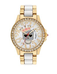 Betsey Johnson Ladies Two Tone Skull Watch