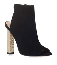 Kurt Geiger London Night Peep Toe Suede Ankle Boots Female Black