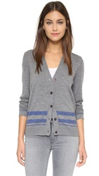 Paul Smith Striped Cardigan Gray Blue