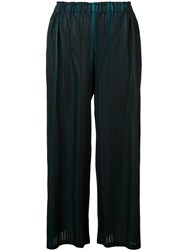 Issey Miyake Pleats Please By Pleated Bicolour Trousers Black