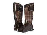 Bogs North Hampton Plaid Chocolate Multi Women's Rain Boots Brown