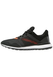 Adidas Performance Energy Bounce 2 Cushioned Running Shoes Core Black Dark Grey Solar Red