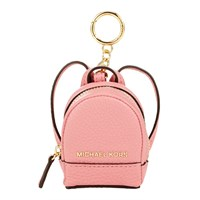 Michael Michael Kors Rhea Backpack Leather Coin Charm Misty Rose