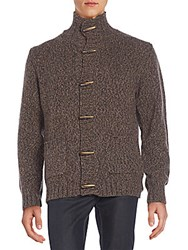 Gant Marled Knit Cardigan Marrone