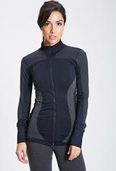 Forever 21 Seamless Zip Up Track Jacket