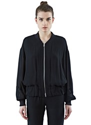Agnona Sheer Bomber Jacket Black