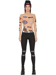 Gcds Embroidered Patches Mesh Bodysuit