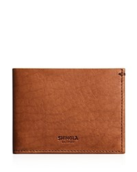 Shinola Slim Bifold Wallet Bourbon